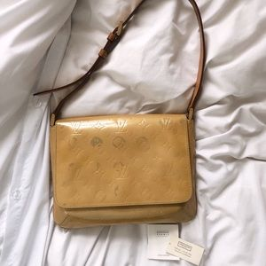 Vintage Louis Vuitton Vernis Nude Shoulder Bag
